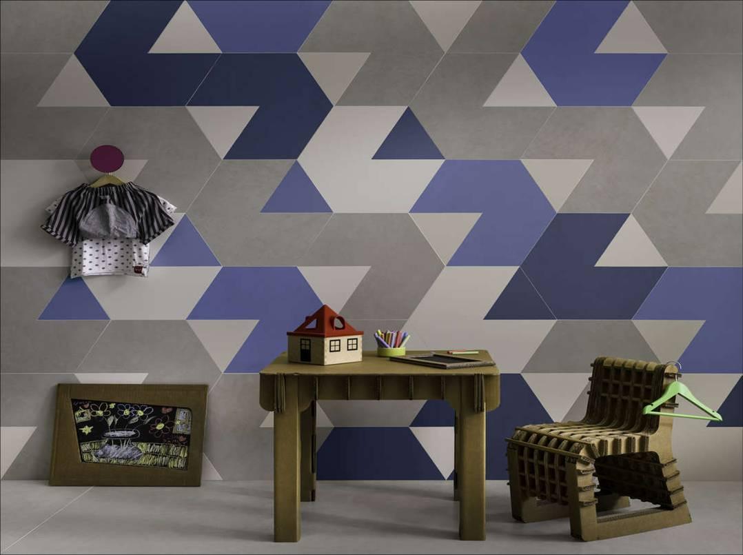 Tendencia Geomatrical Dreams, de Lea Ceramiche, en su nest de HOK Product Design.
