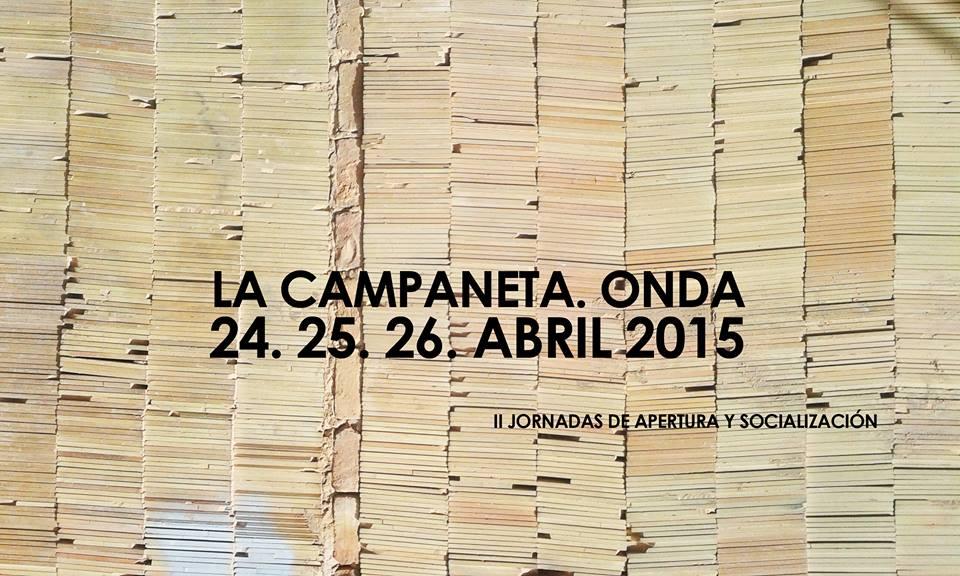 Cartel de las Jornadas de la Campaneta (segunda edición)