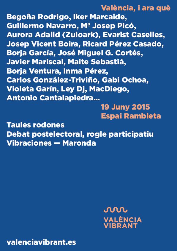 19 DE JUNIO, ponentes VALENCIA VIBRANT en la Rambleta